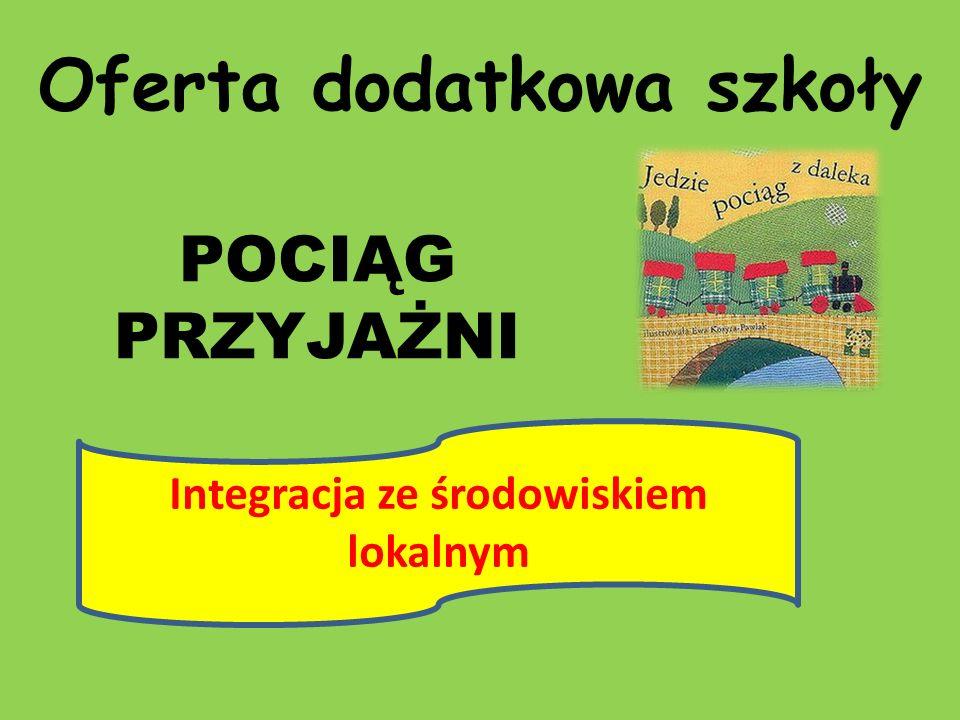 Oferta dodatkowa szkoły POCIĄG PRZYJAŻNI Integracja ze środowiskiem lokalnym