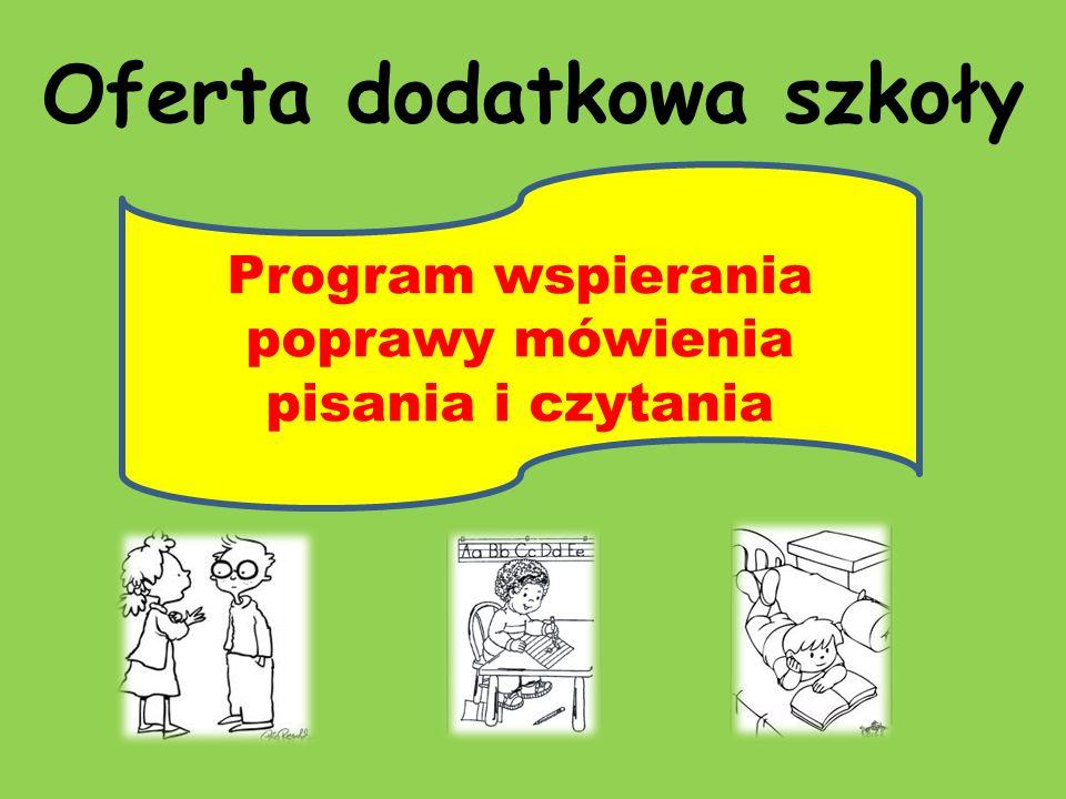 Oferta dodatkowa szkoły Program wspierania poprawy mówienia pisania i czytania