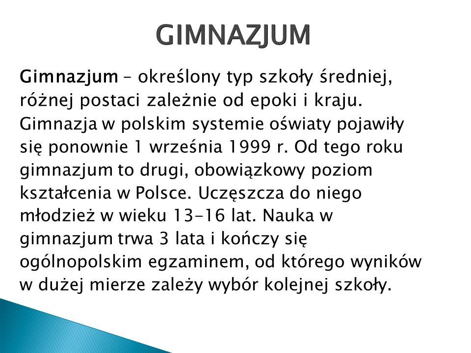 Szkoła Podstawowa nr1 Szkoła Podstawowa nr2 Zespół Szkół Podstawowo-Gimnazjalnych Gimnazjum nr1 im.