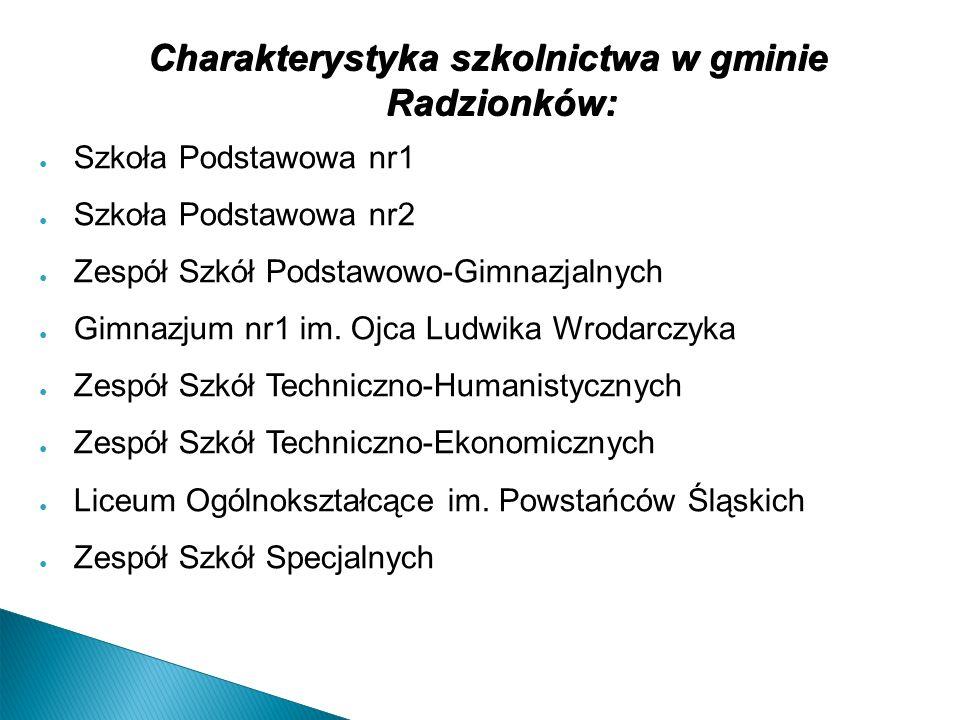 W roku 2003 na terenie Szkoły Podstawowej nr4 utworzono Gimnazjum nr2 w Radzionkowie i od tego momentu szkoła nosi nazwę Zespołu Szkół Podstawowo-Gimnazjalnych w Radzionkowie.
