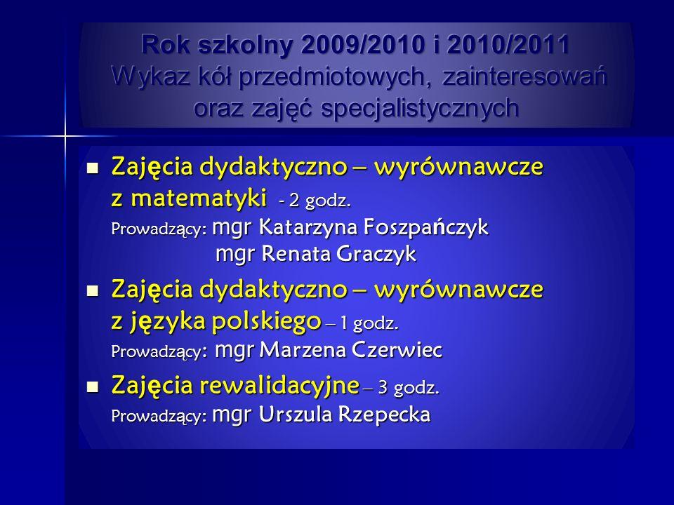 Koła polonistyczne Koło polonistyczne – prowadzący mgr Jolanta Wróblewska Koło polonistyczne – prowadzący mgr Anna Szymańska Głównym celem zajęć było rozbudzanie zainteresowań uczniów poszerzanie i utrwalanie wiedzy z języka polskiego.