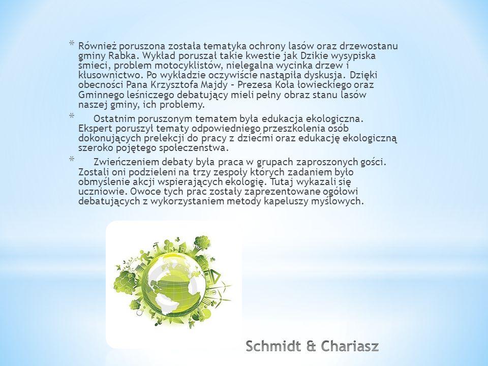 * Również poruszona została tematyka ochrony lasów oraz drzewostanu gminy Rabka.