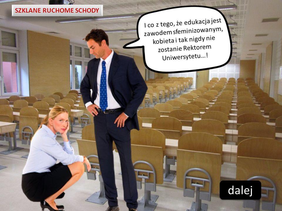 SZKLANE RUCHOME SCHODY I co z tego, że edukacja jest zawodem sfeminizowanym, kobieta i tak nigdy nie zostanie Rektorem Uniwersytetu…! dalej