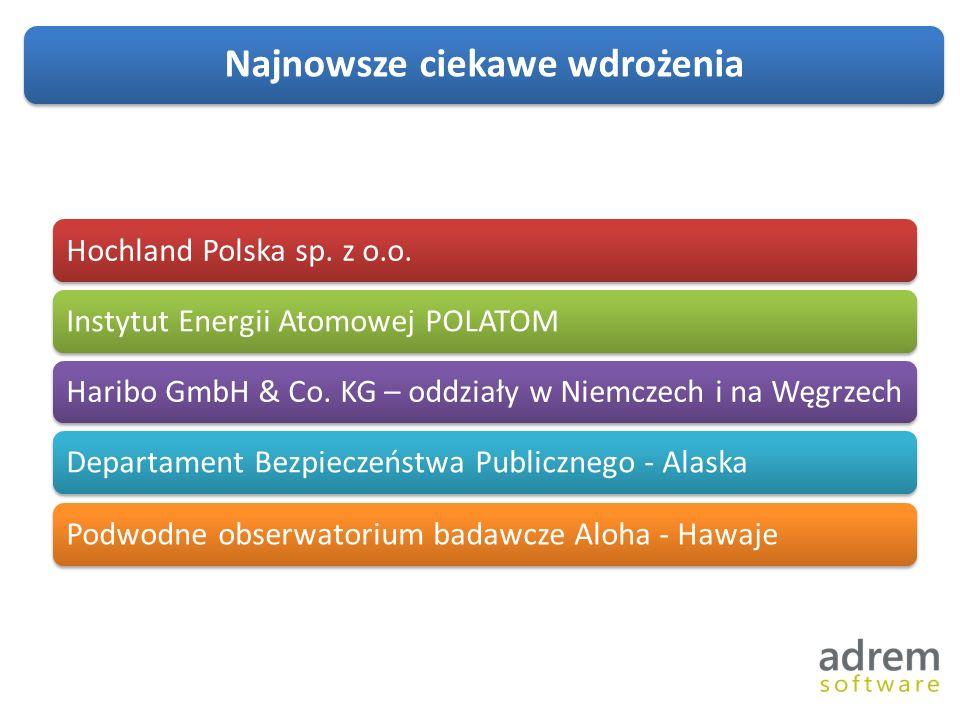 Najnowsze ciekawe wdrożenia Hochland Polska sp.