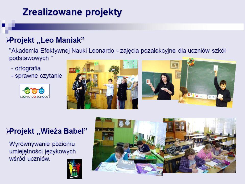 Zrealizowane projekty Projekt Leo Maniak Projekt Leo Maniak