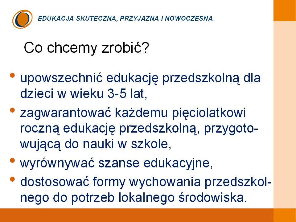 Dlatego rok szkolny 2008/2009 został w oświacie ogłoszony Rokiem Przedszkolaka.