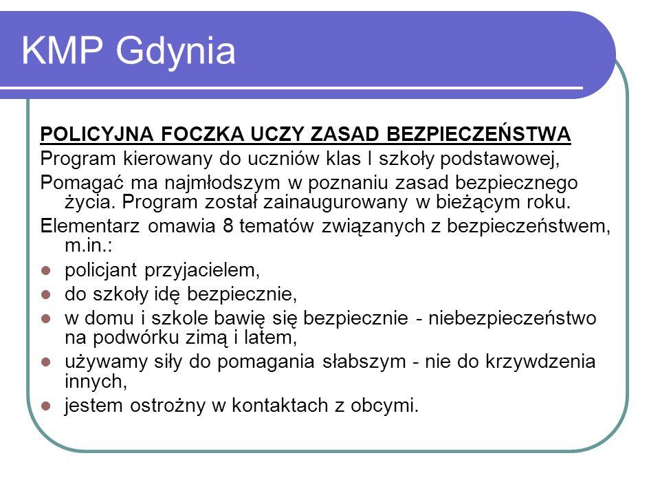 KMP Słupsk Prewencja, ale inaczej Program kierowany do uczniów szkół gimnazjalnych.