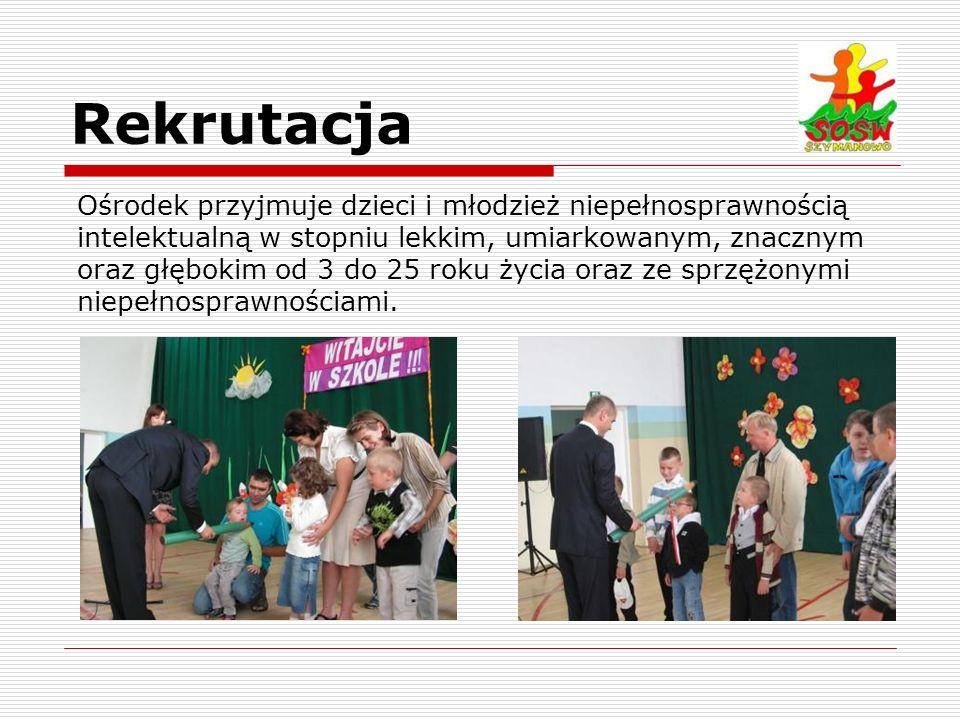 Rekrutacja Ośrodek przyjmuje dzieci i młodzież niepełnosprawnością intelektualną w stopniu lekkim, umiarkowanym, znacznym oraz głębokim od 3 do 25 rok