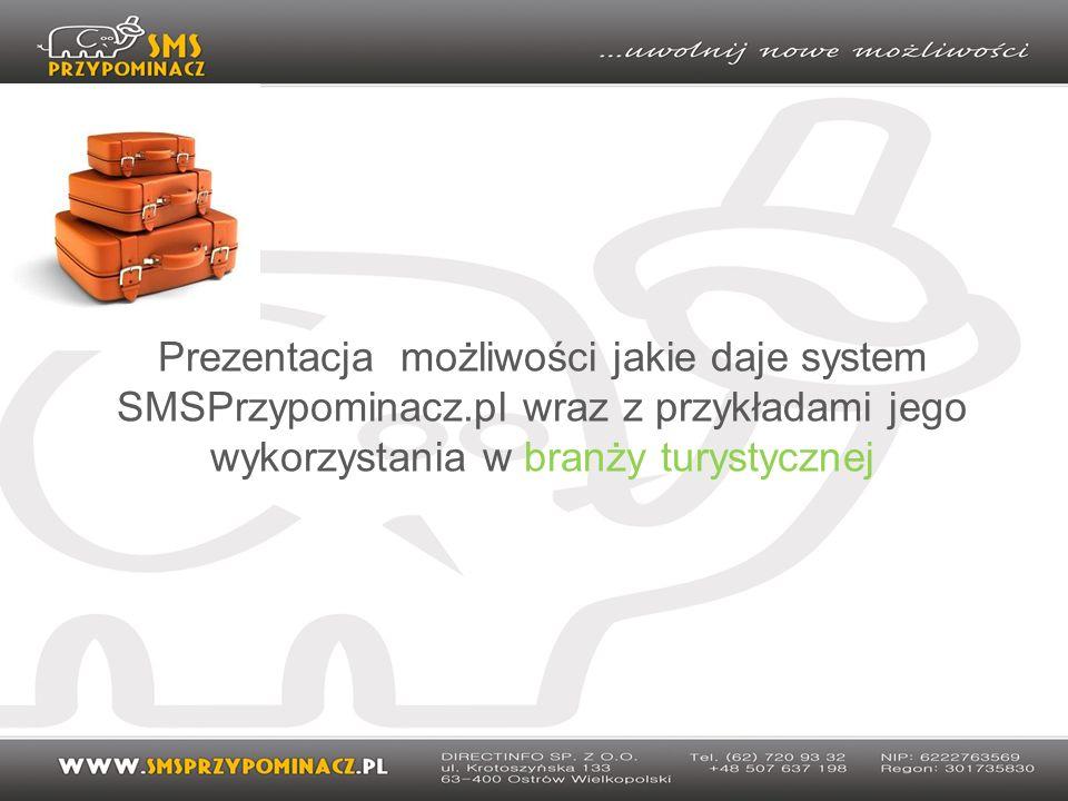 Prezentacja możliwości jakie daje system SMSPrzypominacz.pl wraz z przykładami jego wykorzystania w branży turystycznej