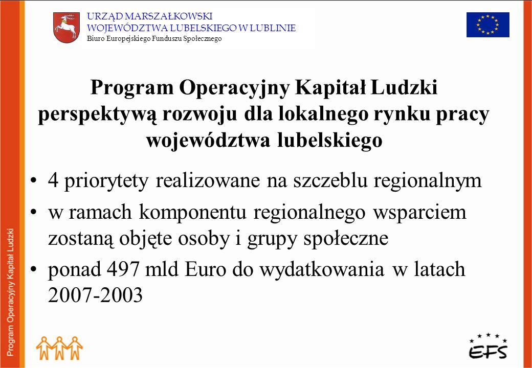 Budżet Priorytetu X w skali kraju: 2,28% środków z PO KL (260 mln Euro) w skali regionu: 3,91% środków przyznanych na komponenty regionalne dla województwa lubelskiego (18,7 mln Euro)* * Obliczenia szacunkowe opracowane przez BEFS