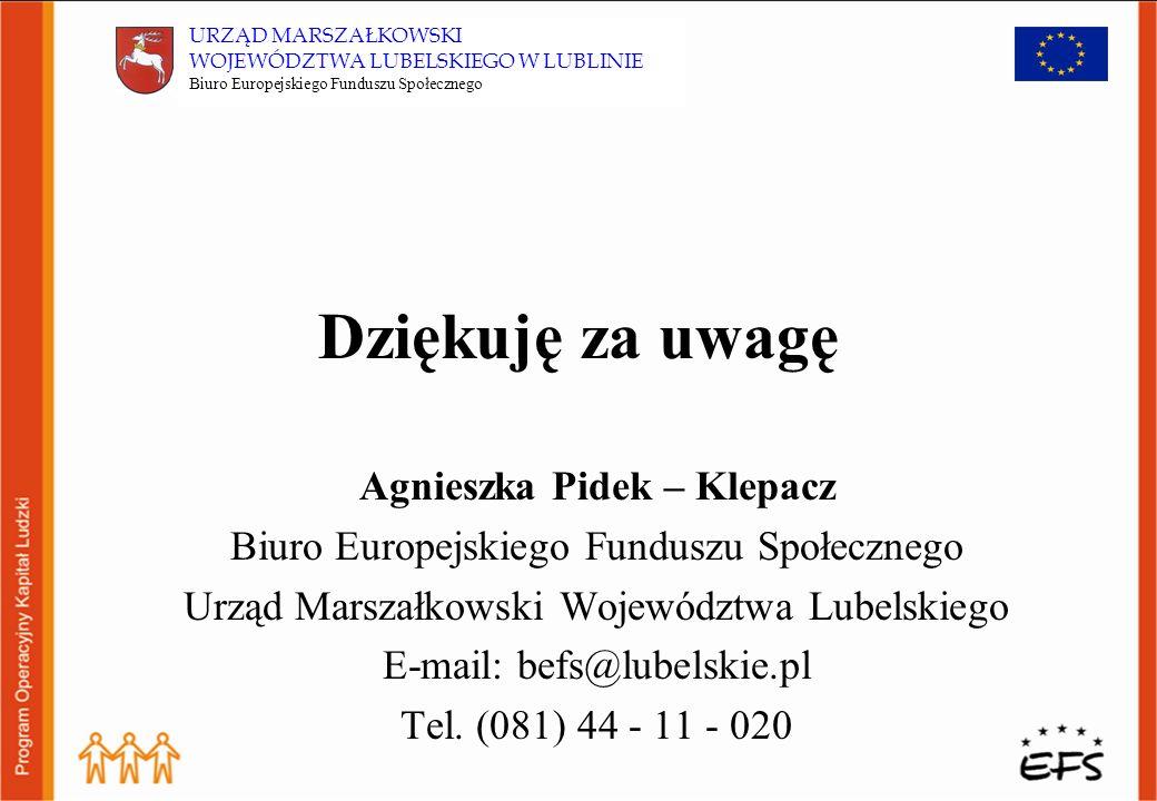 Program Operacyjny Kapitał Ludzki perspektywą rozwoju dla lokalnego rynku pracy województwa lubelskiego 4 priorytety realizowane na szczeblu regionalnym w ramach komponentu regionalnego wsparciem zostaną objęte osoby i grupy społeczne ponad 497 mld Euro do wydatkowania w latach 2007-2003