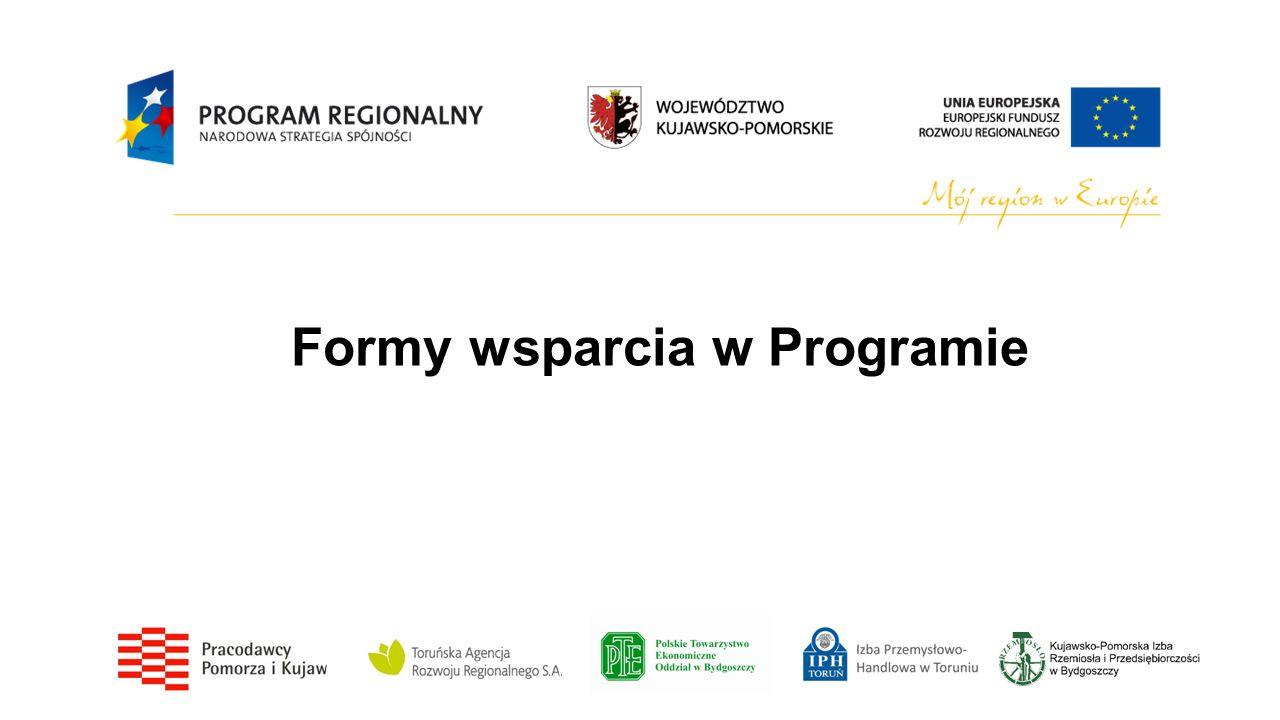 Formy wsparcia w Programie