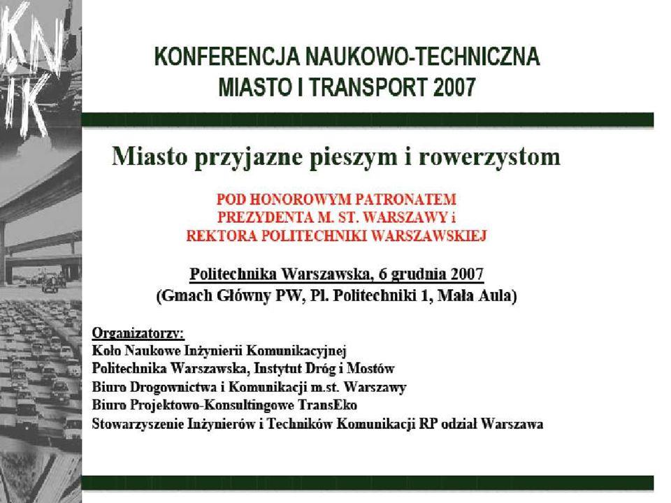 2 Piesi i ruch rowerowy w strategii transportowej Warszawy MIECZYSŁAW REKSNIS BIURO DROGOWNICTWA I KOMUNIKACJI n PLAN –WPROWADZENIE –OPIS I ANALIZA STANU ISTNIEJĄCEGO RUCHU PIESZEGO I ROWEROWEGO ZAWARTA W STRATEGII TRANSPORTOWEJ –POLITYKA TRANSPORTOWA WARSZAWY –ZRÓWNOWAŻONY PLAN ROZWOJU TRANSPORTU PUBLICZNEGO –PRZYKŁADY OPRACOWAŃ n PAS DLA ROWERÓW W CIĄGU ULIC: EMILII PLATER – NOAKOWSKIEGO, n KONKURS NA PLACE: BANKOWY I TEATRALNY –PRZYKŁAD REALIZACJI n KRAKOWSKIE PRZEDMIEŚCIE