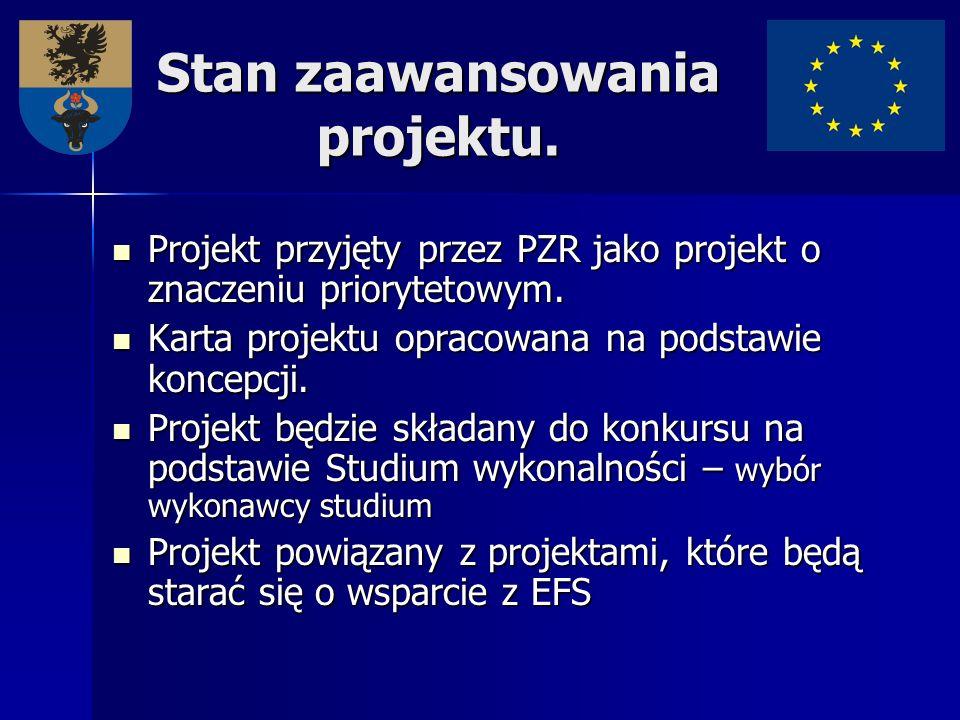 Stan zaawansowania projektu. Projekt przyjęty przez PZR jako projekt o znaczeniu priorytetowym. Projekt przyjęty przez PZR jako projekt o znaczeniu pr