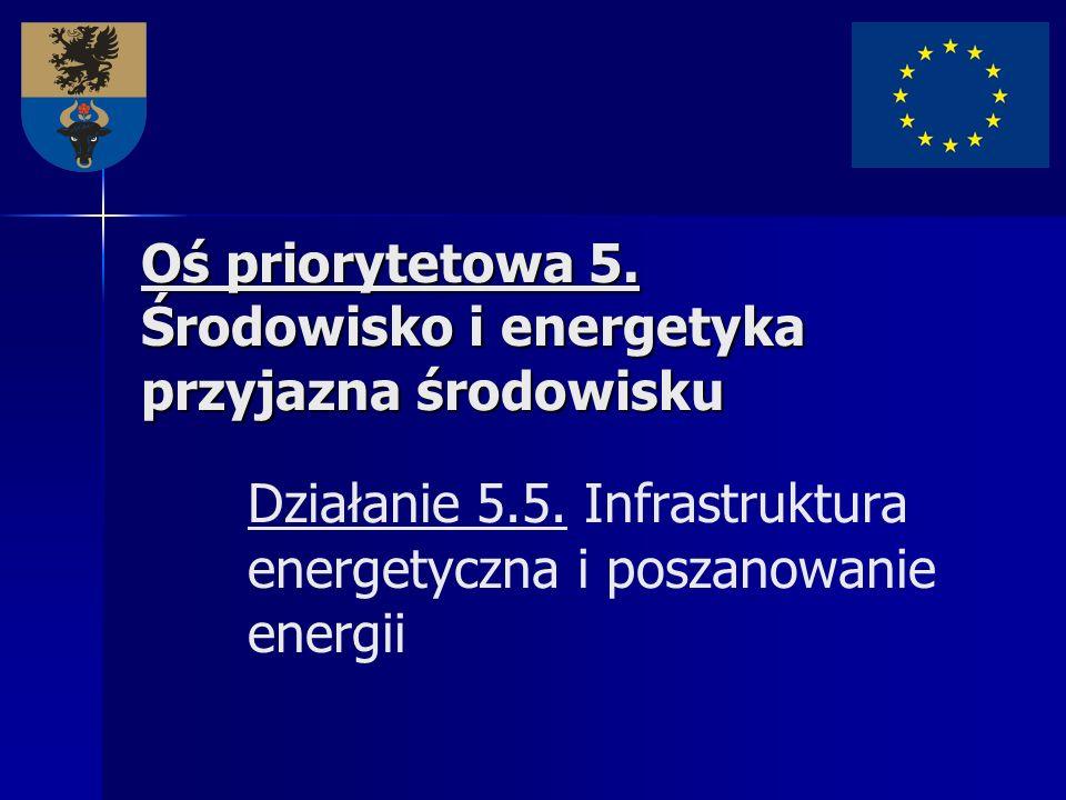 Oś priorytetowa 5. Środowisko i energetyka przyjazna środowisku Oś priorytetowa 5. Środowisko i energetyka przyjazna środowisku Działanie 5.5. Infrast