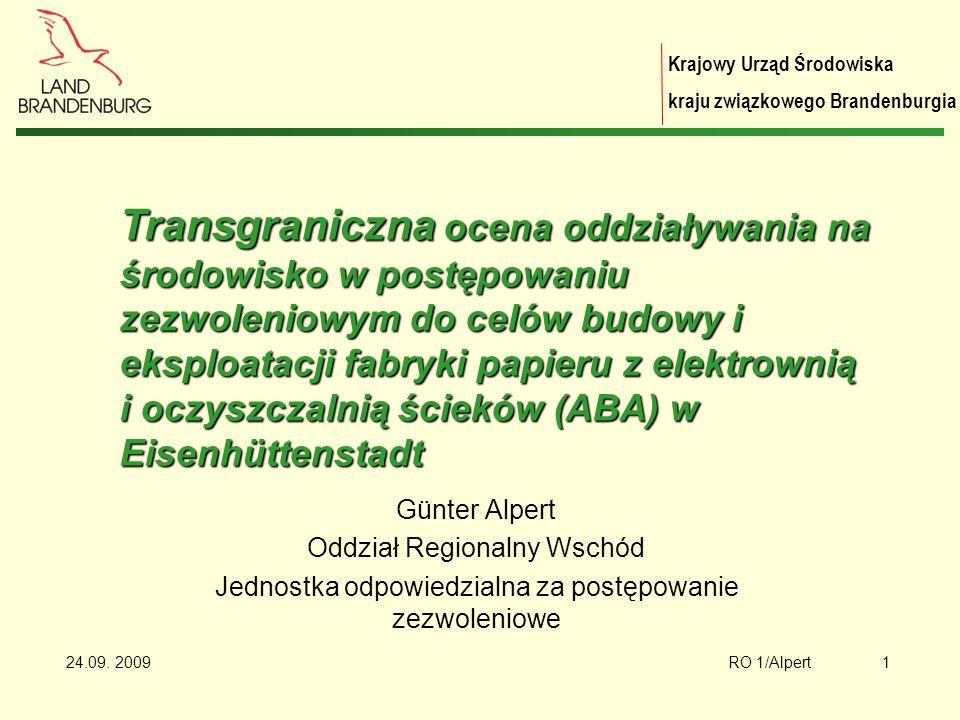 Krajowy Urząd Środowiska kraju związkowego Brandenburgia 24.09.
