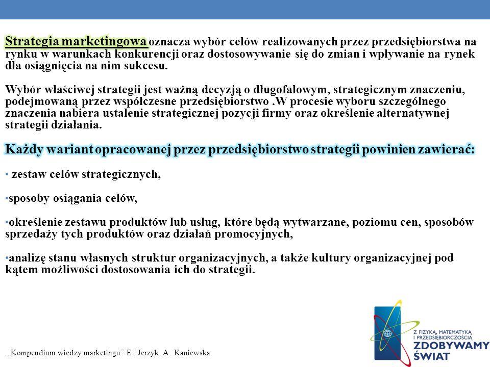 Kompendium wiedzy marketingu E. Jerzyk, A. Kaniewska