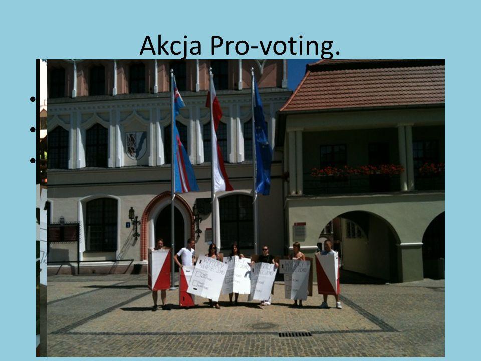 Akcja Pro-voting. Odbyła się 3 lipca 2010 roku. Goń urnę!. Zachęcali do głosowania w II turze wyborów prezydenckich.