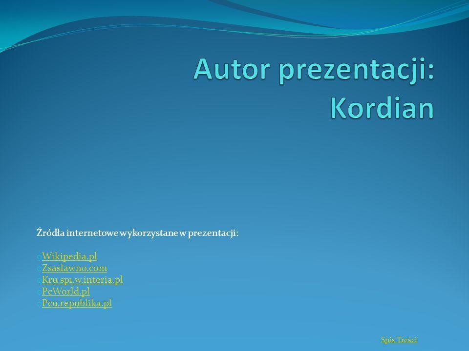 Źródła internetowe wykorzystane w prezentacji: o Wikipedia.pl Wikipedia.pl o Zsaslawno.com Zsaslawno.com o Kru.sp1.w.interia.pl Kru.sp1.w.interia.pl o