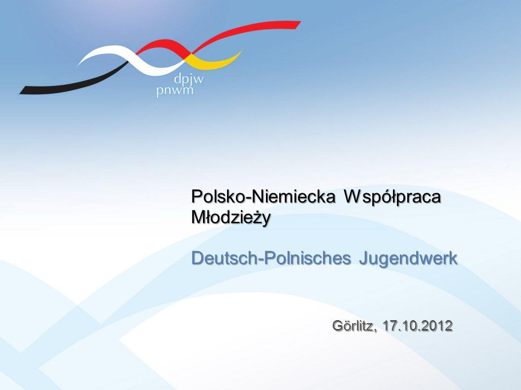 Görlitz, 17.10.2012 Polsko-Niemiecka Współpraca Młodzieży Deutsch-Polnisches Jugendwerk
