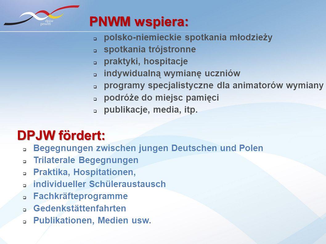 polsko-niemieckie spotkania młodzieży spotkania trójstronne praktyki, hospitacje indywidualną wymianę uczniów programy specjalistyczne dla animatorów