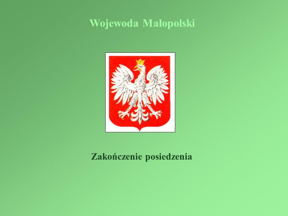 Wojewoda Małopolski Zakończenie posiedzenia