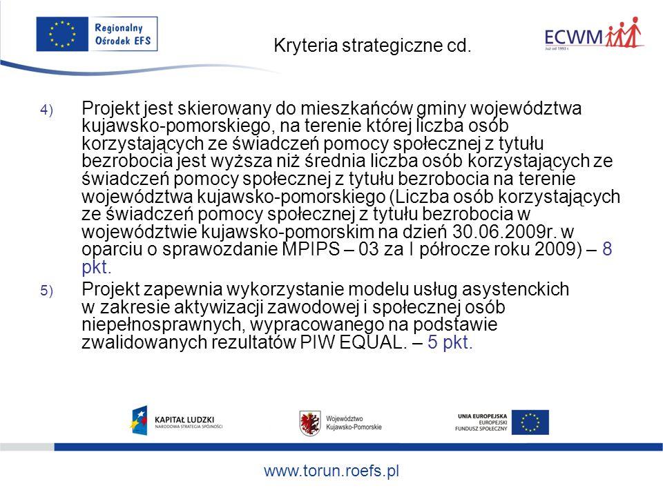 www.torun.roefs.pl Kryteria strategiczne cd.