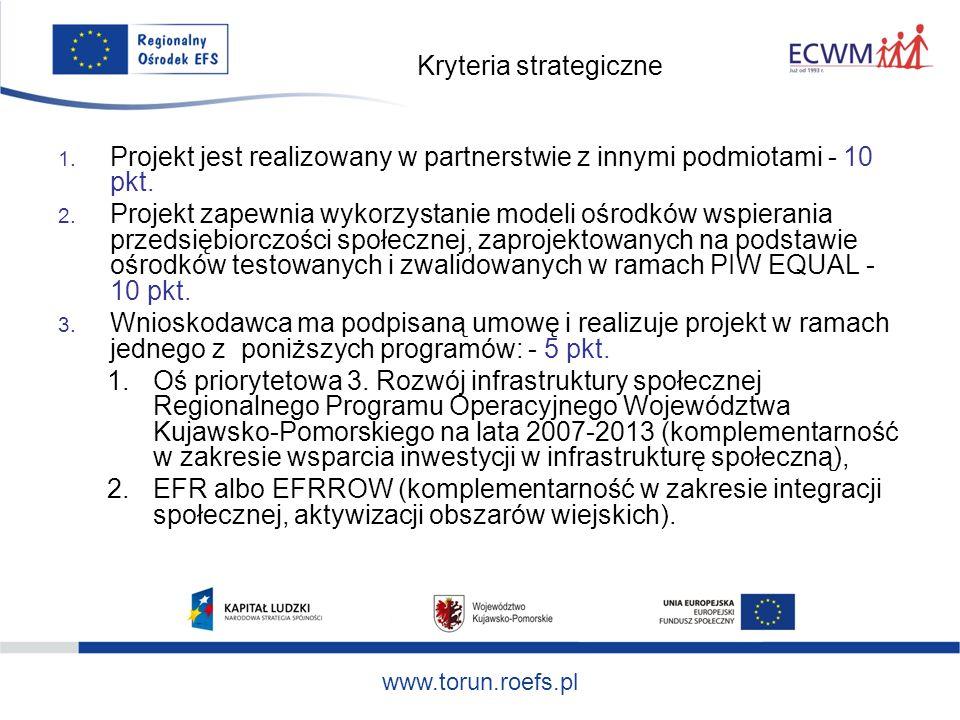 www.torun.roefs.pl Kryteria strategiczne 1.