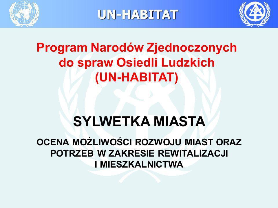 UN-HABITAT Program Narodów Zjednoczonych do spraw Osiedli Ludzkich (UN-HABITAT) SYLWETKA MIASTA OCENA MOŻLIWOŚCI ROZWOJU MIAST ORAZ POTRZEB W ZAKRESIE