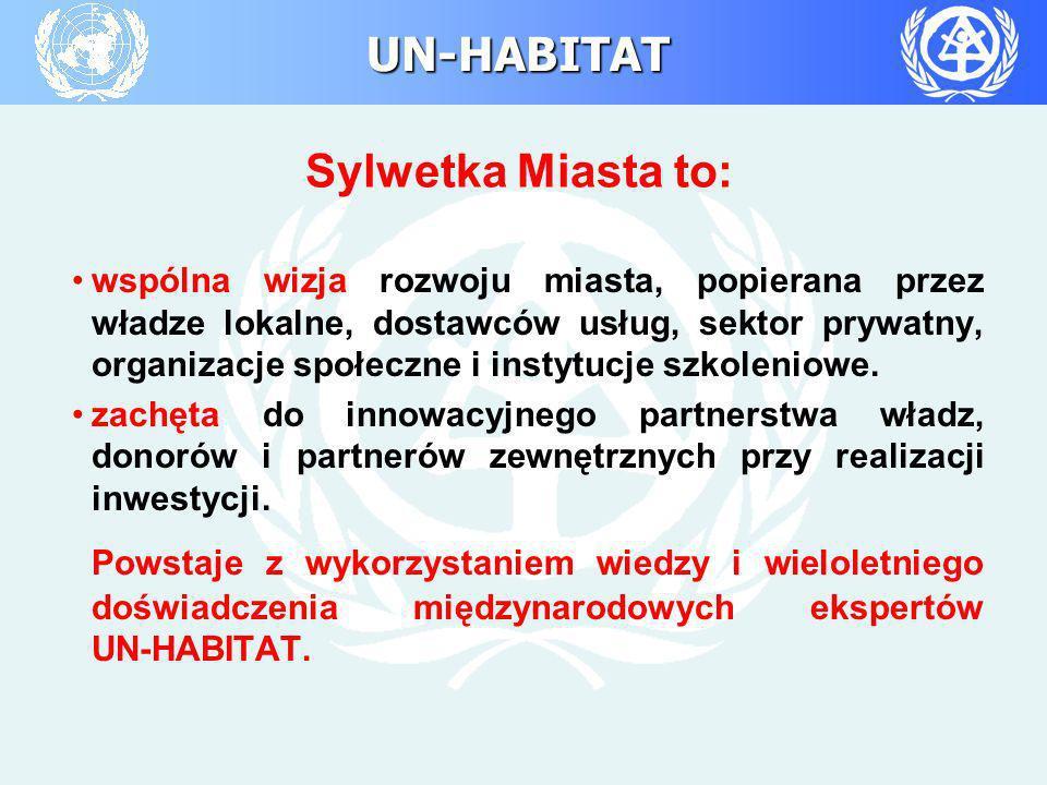 UN-HABITAT Sylwetka Miasta to: wspólna wizja rozwoju miasta, popierana przez władze lokalne, dostawców usług, sektor prywatny, organizacje społeczne i
