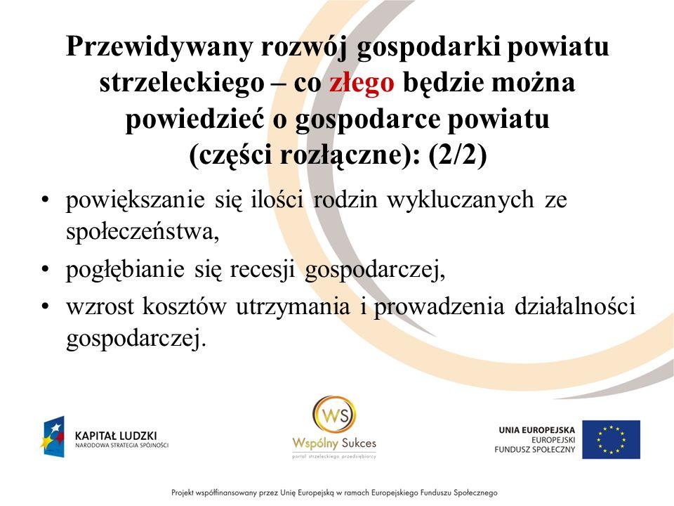 Przewidywany rozwój gospodarki powiatu strzeleckiego – co złego będzie można powiedzieć o gospodarce powiatu (części rozłączne): (2/2) powiększanie si