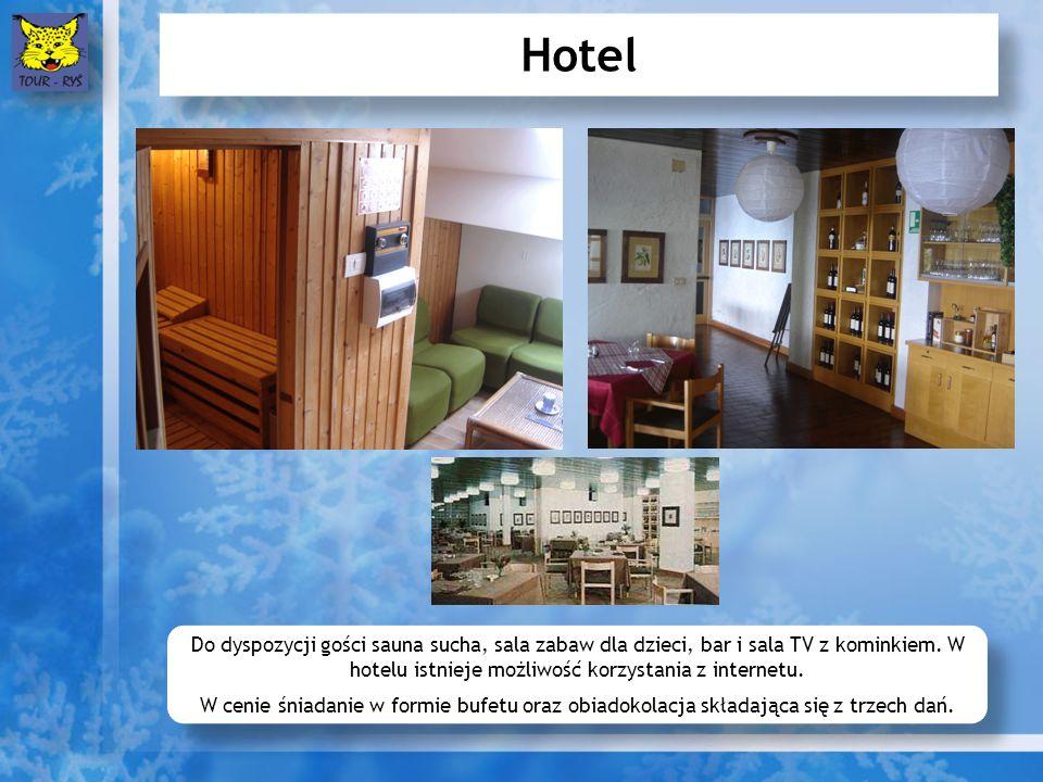 Hotel Do dyspozycji gości sauna sucha, sala zabaw dla dzieci, bar i sala TV z kominkiem.