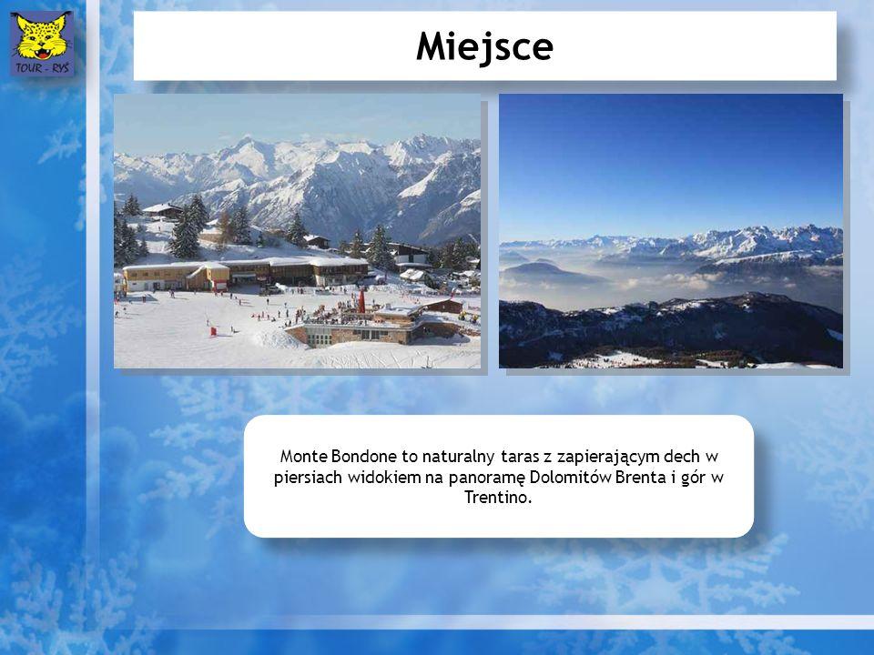 Miejsce Monte Bondone to naturalny taras z zapierającym dech w piersiach widokiem na panoramę Dolomitów Brenta i gór w Trentino.