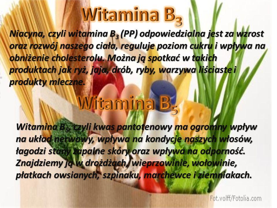 Niacyna, czyli witamina B 3 (PP) odpowiedzialna jest za wzrost oraz rozwój naszego ciała, reguluje poziom cukru i wpływa na obniżenie cholesterolu.