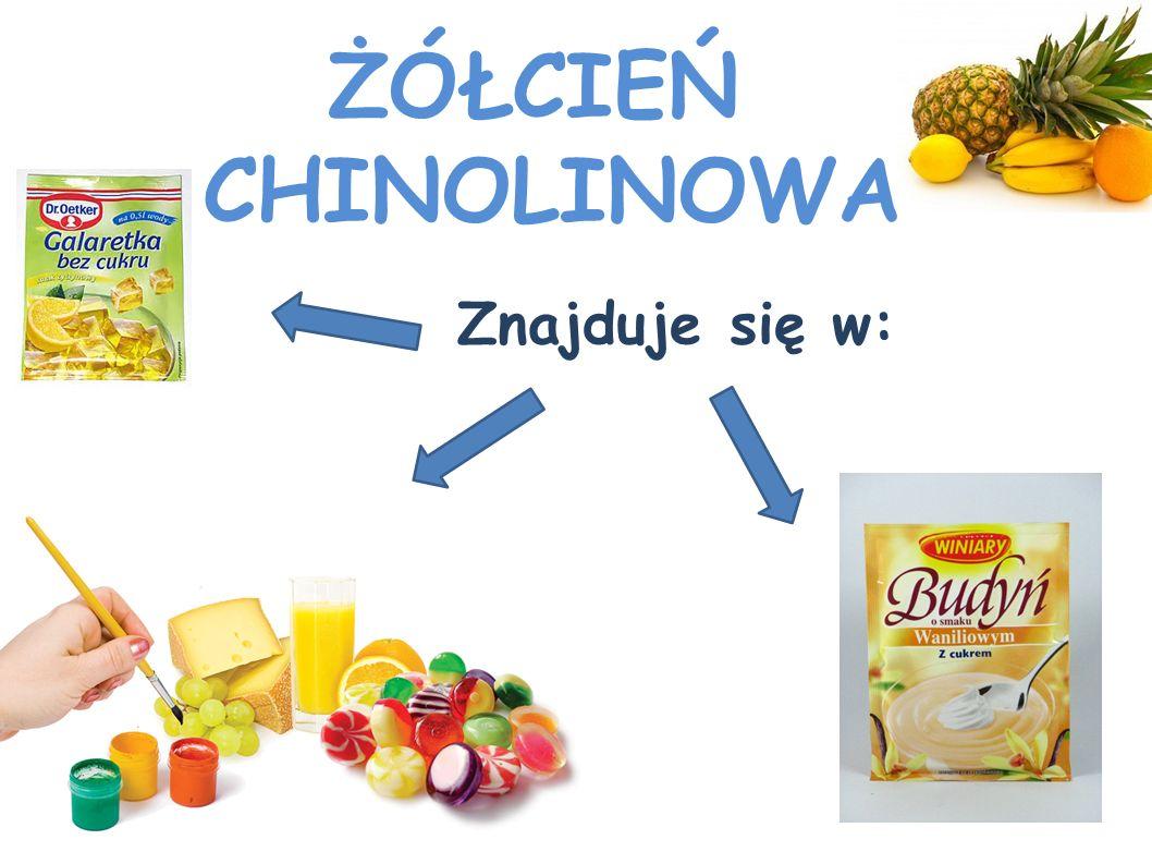 ŻÓŁCIEŃ CHINOLINOWA Znajduje się w: