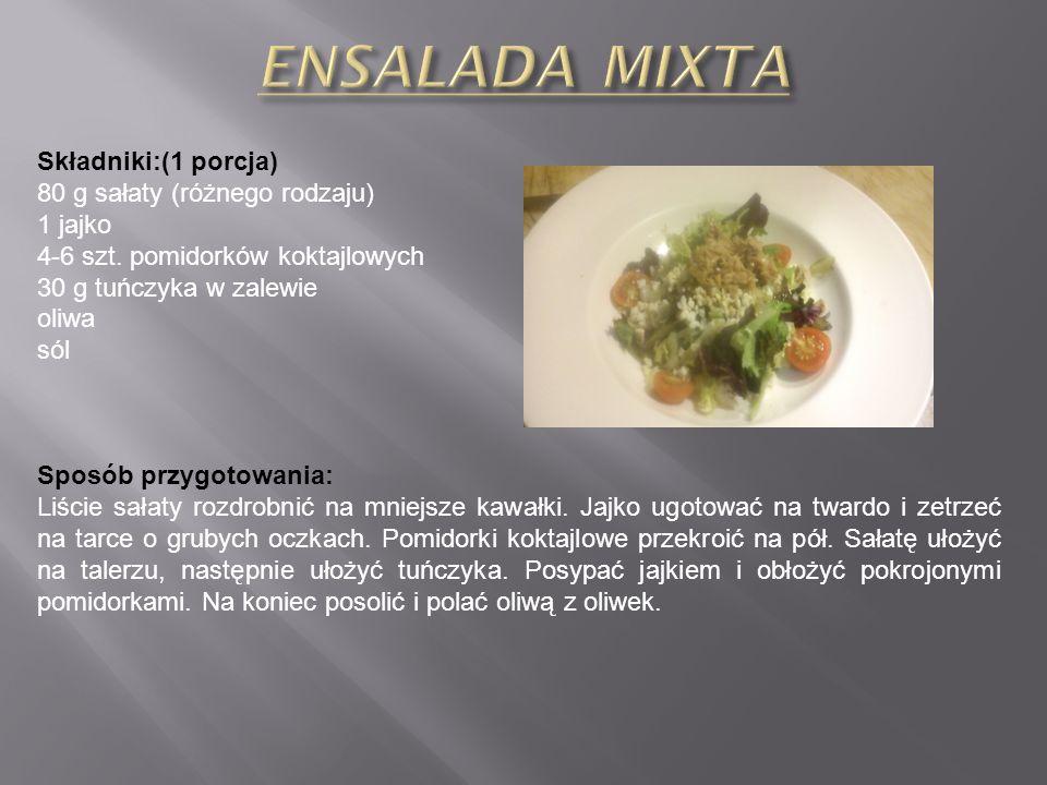 Składniki: (4-6 porcji) 5-6 ziemniaków łyżka oliwy sól Sos Alioli: 4 ząbki czosnku szczypta soli 2 żółtka 1 łyżka soku z cytryny 1 szklanka oliwy szcz