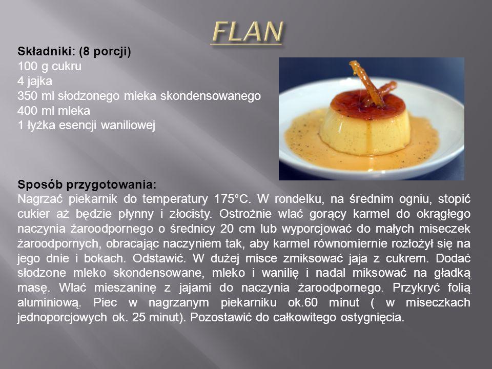 Składniki: (4 porcje) 1 bochenek chleba pszennego (400 g) lub bułki kanapkowej 3-4 ząbki czosnku 60 ml oliwy 20 ml ocet winny sól 60 ml olej 1 jabłko