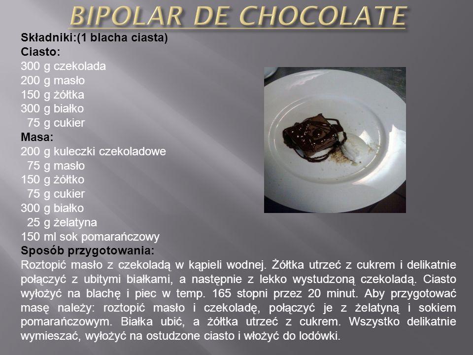 Skladniki: (10 porcji) 6 jogurtów naturalnych o poj. 125 ml 200 ml śmietanki kremowej 2 łyżeczki żelatyny 3 białka 5 łyżek cukru deserowa czekolada Sp