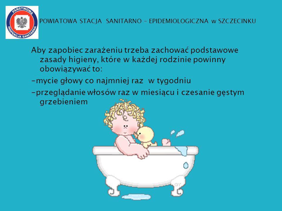 Aby zapobiec zarażeniu trzeba zachować podstawowe zasady higieny, które w każdej rodzinie powinny obowiązywać to: -mycie głowy co najmniej raz w tygod