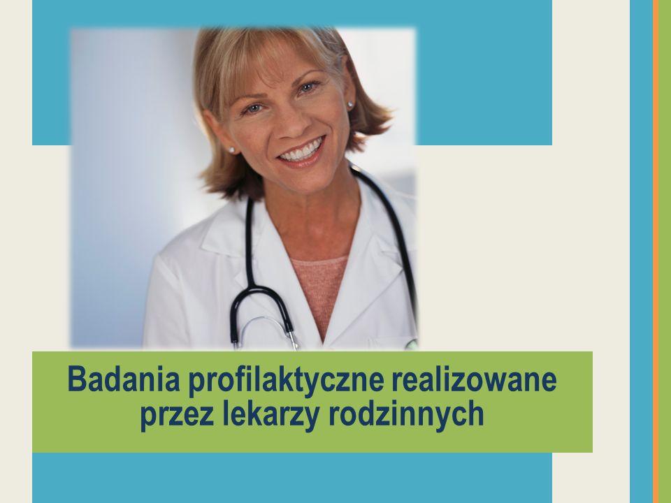 Badania profilaktyczne realizowane przez lekarzy rodzinnych