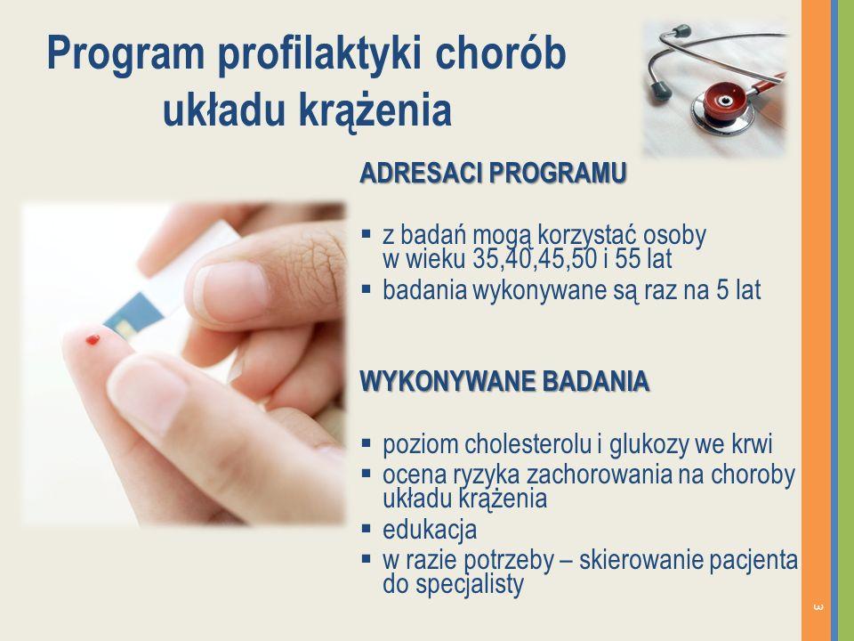 Program profilaktyki chorób odtytoniowych ADRESACI PROGRAMU palacze papierosów WYKONYWANE BADANIA pomiar masy ciała i wzrostu pomiar ciśnienia tętniczego krwi spirometria (raz na 3 lata) skierowanie na terapię odwykową 4