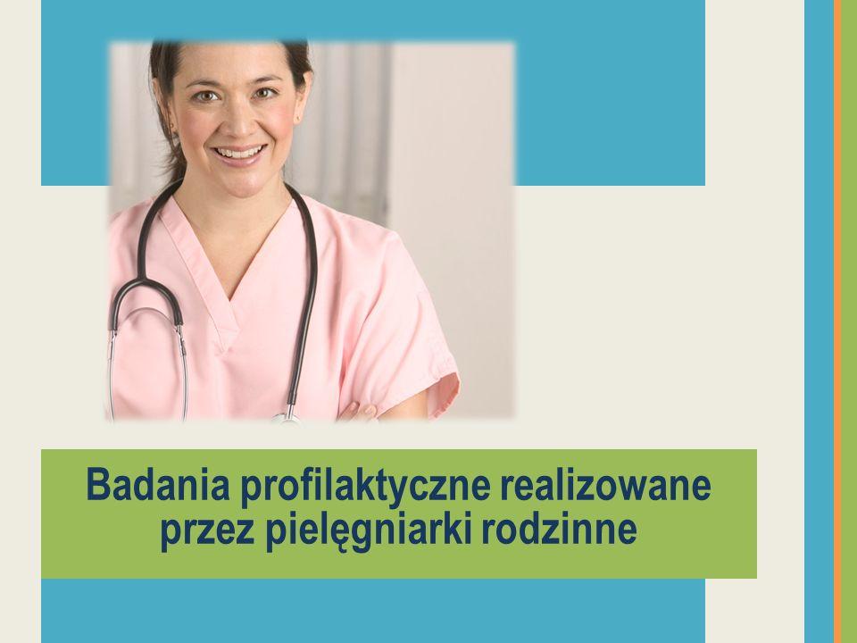 Badania profilaktyczne realizowane przez pielęgniarki rodzinne