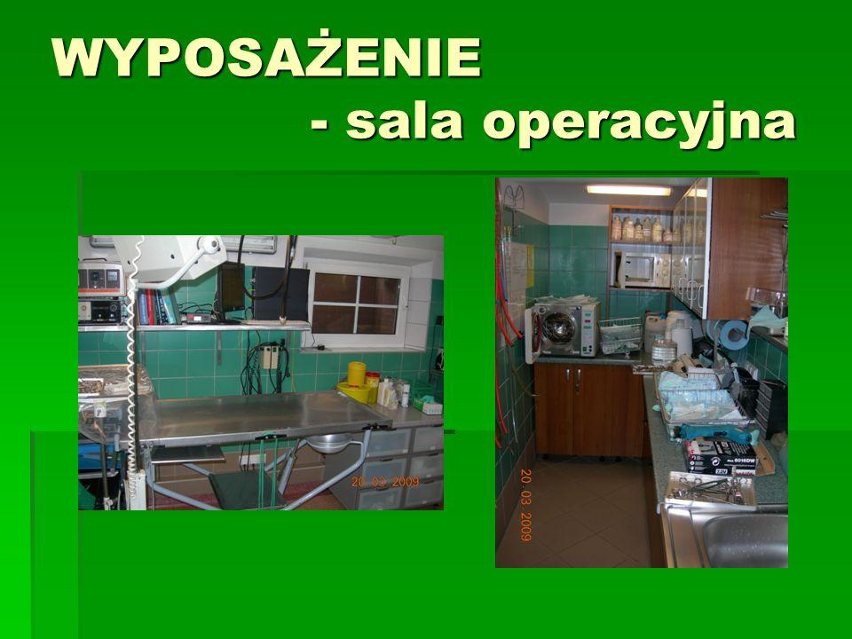WYPOSAŻENIE - sala operacyjna