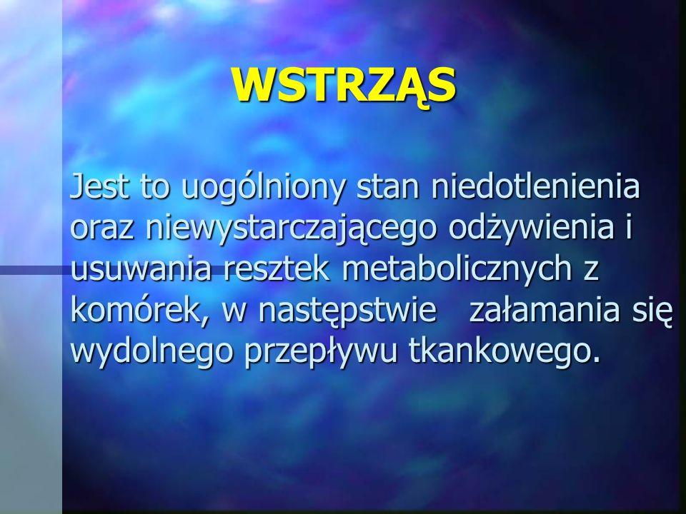 WSTRZĄS Podstawowym pojęciem dotyczącym funkcjonowania poszczególnych komórek oraz zbudowanych z nich narządów i układów jest homeostaza.