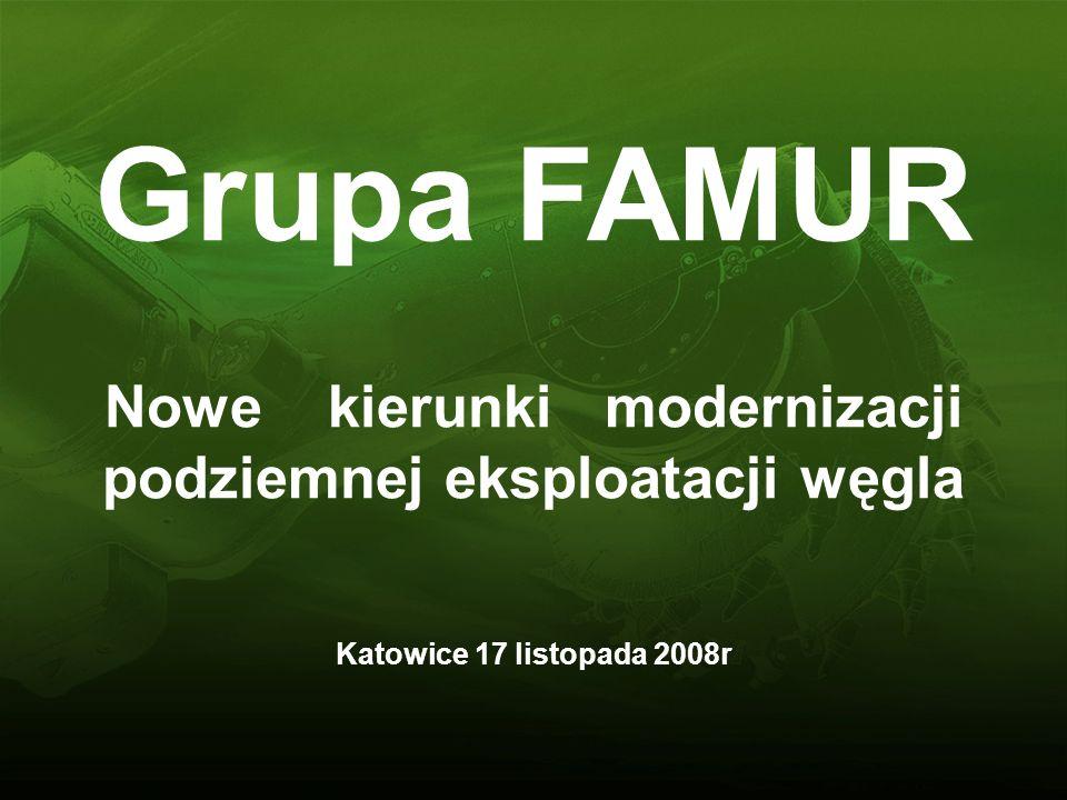 Grupa FAMUR Nowe kierunki modernizacji podziemnej eksploatacji węgla Katowice 17 listopada 2008r