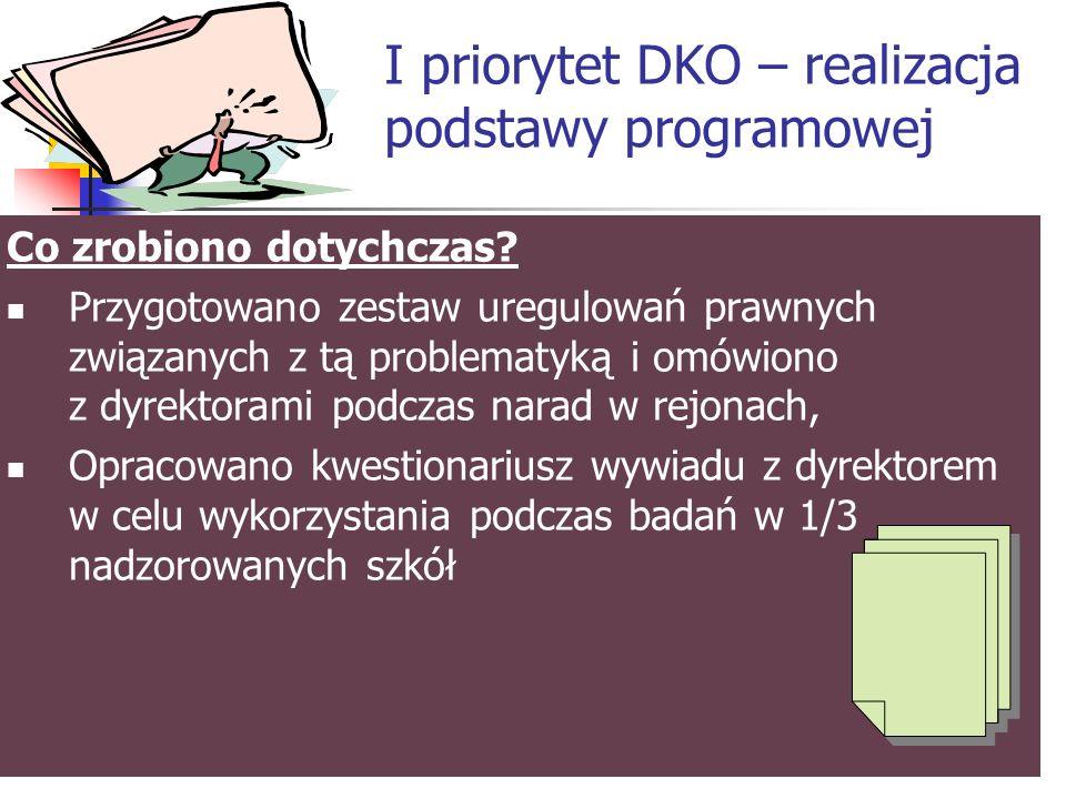 Priorytety DKO