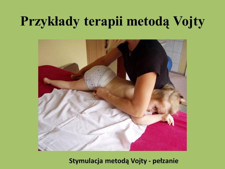 Przykłady terapii metodą Vojty Stymulacja metodą Vojty - pełzanie
