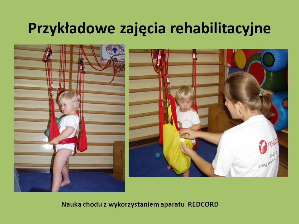 Przykładowe zajęcia rehabilitacyjne Nauka chodu z wykorzystaniem aparatu REDCORD