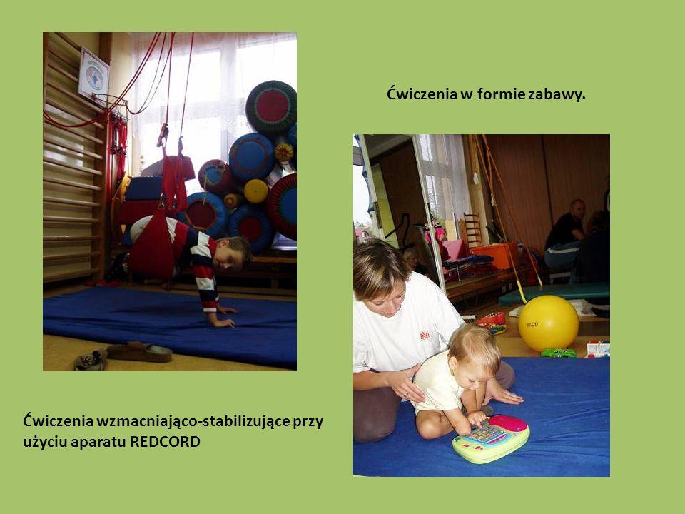 Ćwiczenia wzmacniająco-stabilizujące przy użyciu aparatu REDCORD Ćwiczenia w formie zabawy.