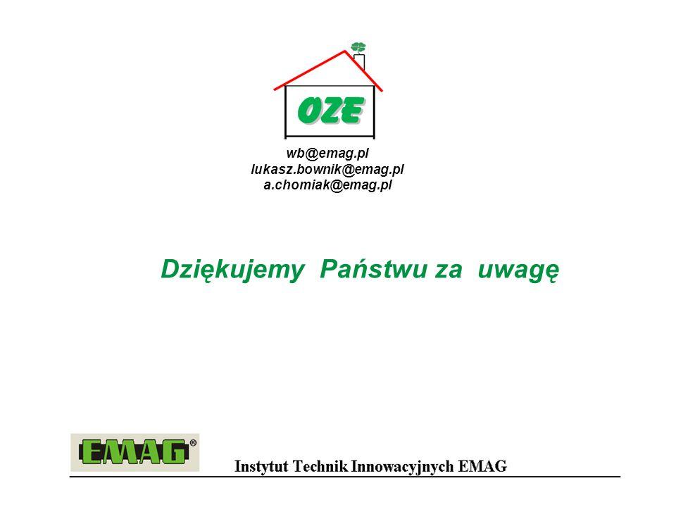Dziękujemy Państwu za uwagę wb@emag.pl lukasz.bownik@emag.pl a.chomiak@emag.pl